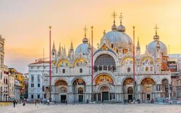 Beautiful view of St. Mark Basilica during Sunset