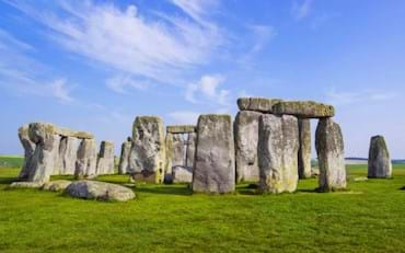 Panoramic view of Stonehenge in England