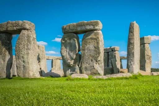 Iconic stones at Stonehenge, England