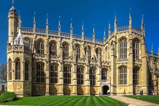 View of St. George's Chapel at Windsor Castle, England