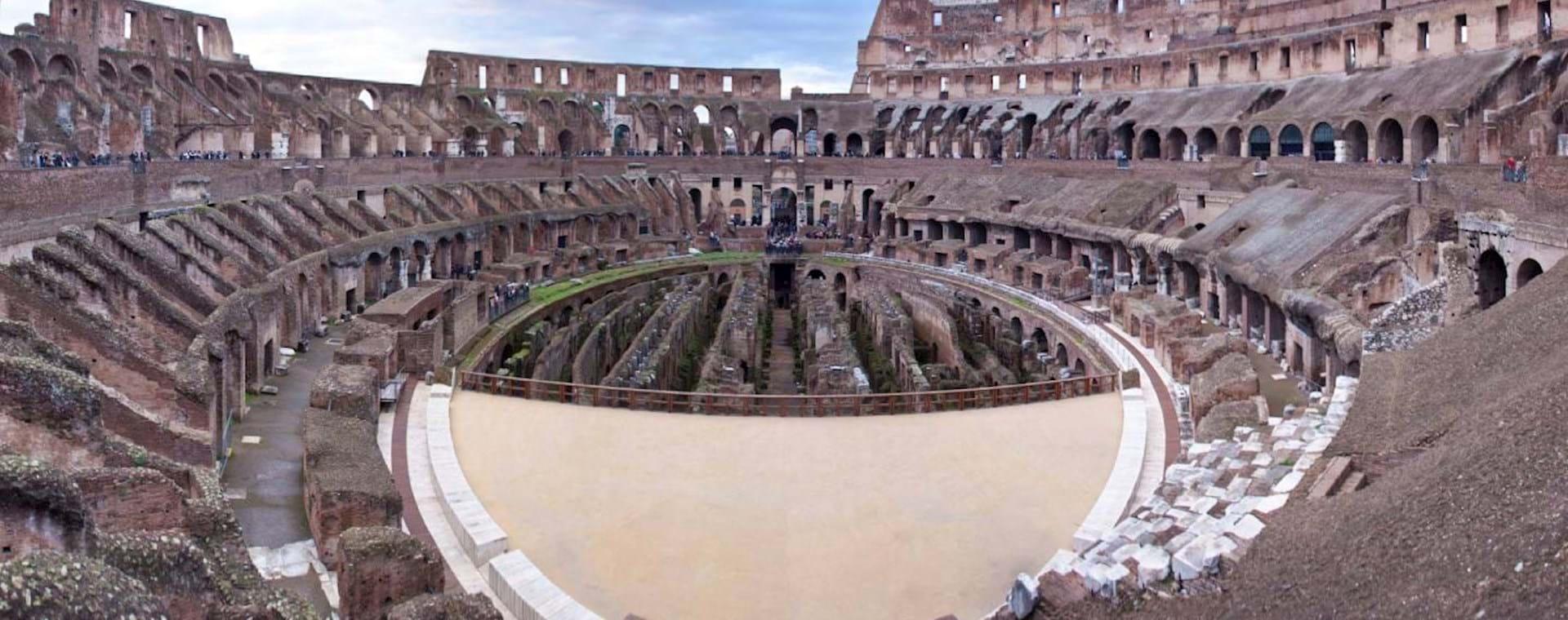 Colosseum Underground Tour with Gladiator Arena, 2nd Tier & Roman Forum