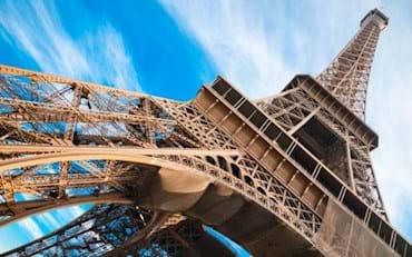 Paris, detaillierte Ansicht des Eiffelturms
