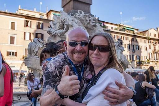 Tourists in Rome at Piazza Navona