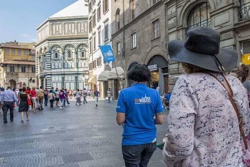 walking tour in Piazza della Signoria in Florence