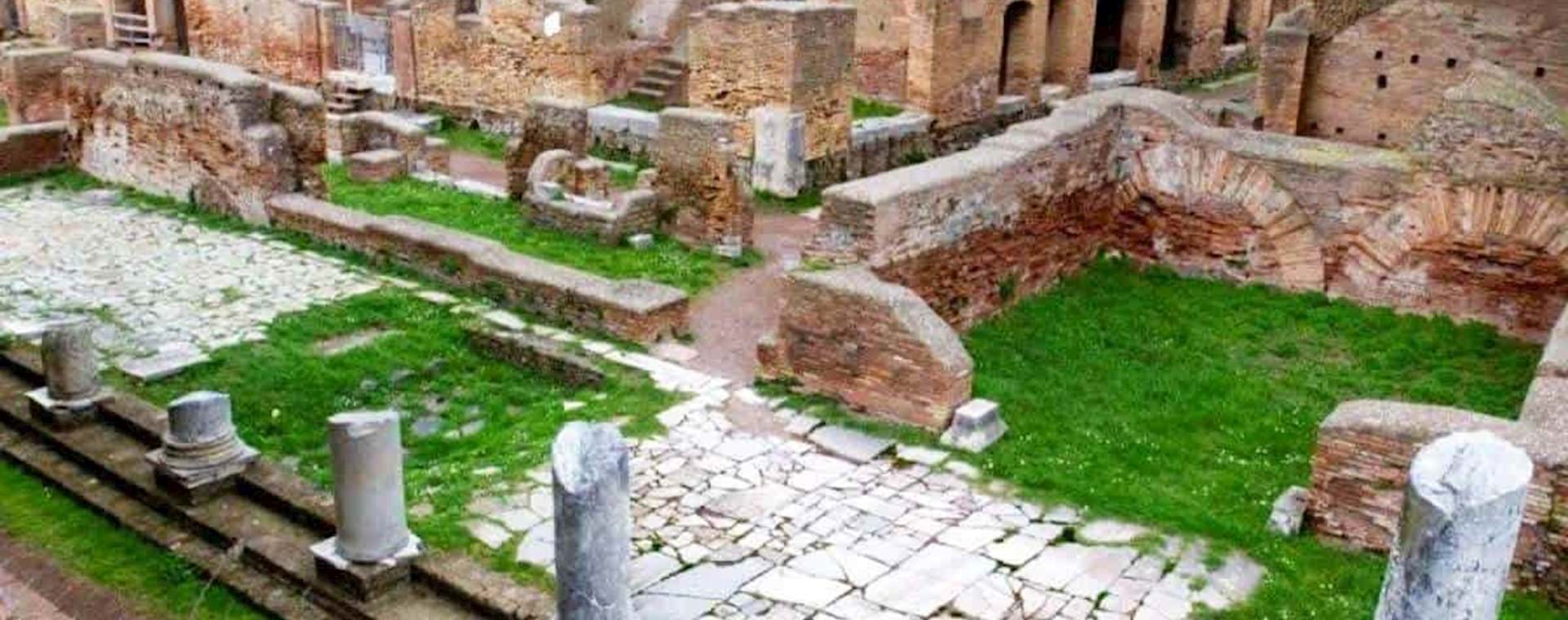 Ruins of Ancient houses in Ostia