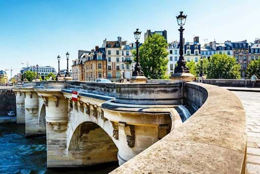 View of Pont Neuf near Notre Dame