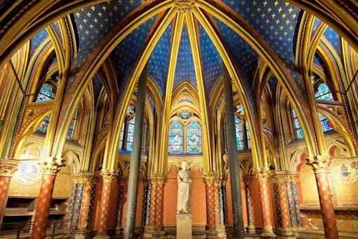 Interior of Sainte Chapelle