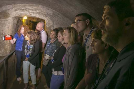 Guided tour of Roman Crypts and Catacombs at night time