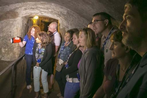 Guided tour of the Roman crypts