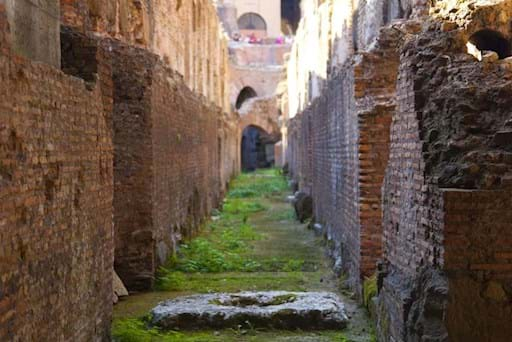 One of the Tunnel in the undergound of the Colosseum