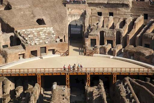 View of the Arena floor in the Colosseum