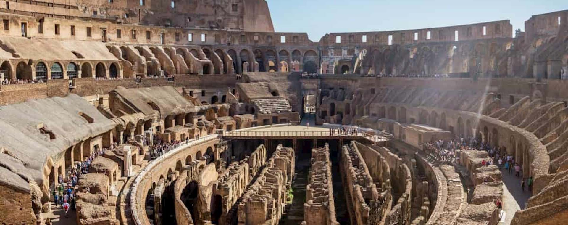 View of the inside of the Colosseum