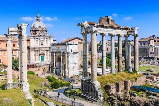 Stunning view of the roman forum