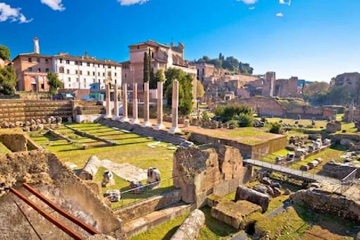 Beautiful view of the Palatine hill