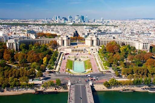 View of Trocadero Square from the Eiffel Tower