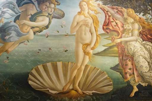 View of the famous painting the Birth of Venus