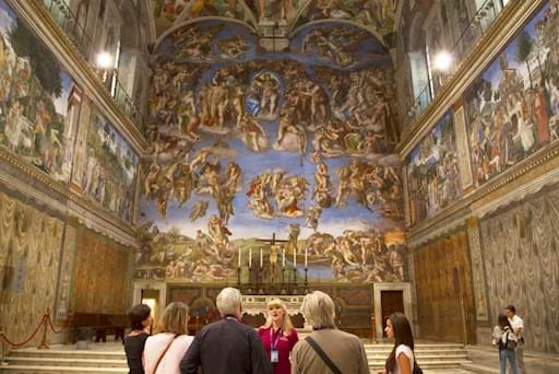 Guided tour inside the Sistine Chapel