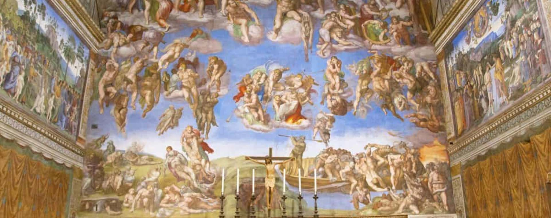 View of an empty Sistine Chapel