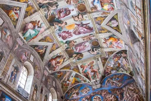 View of the roof of the Sistine Chapel