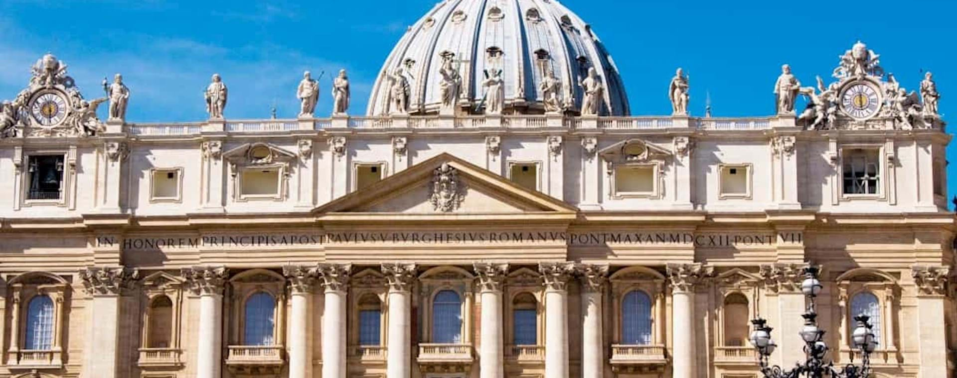 front view of the St Peter Basilica