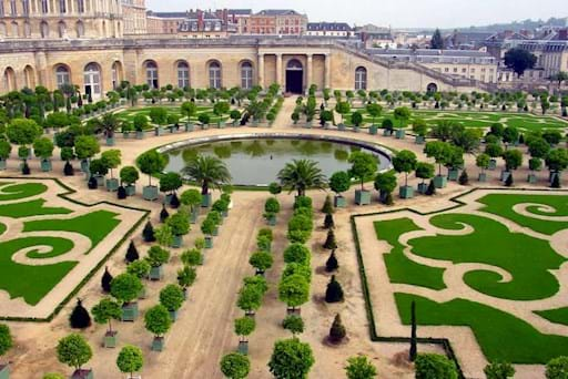 Beautiful view of the Garden in Versailles