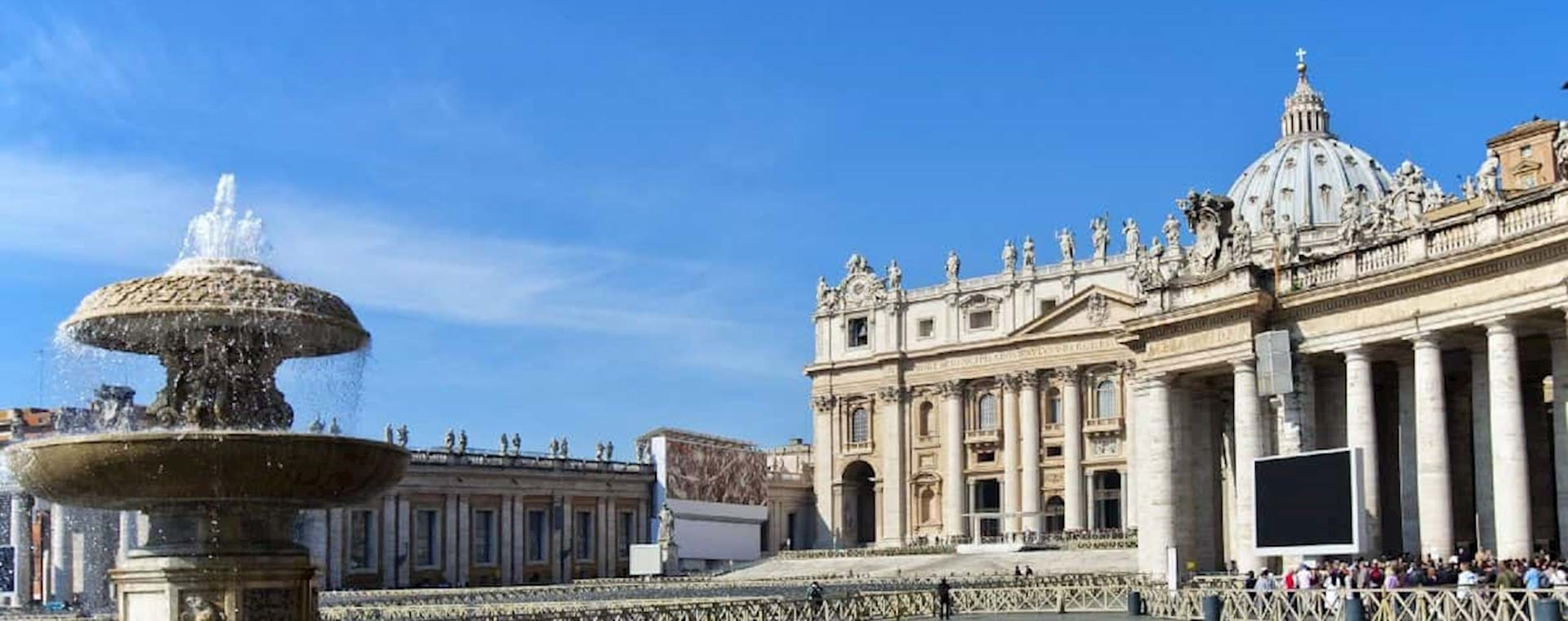View of St PEter Square with Fountain