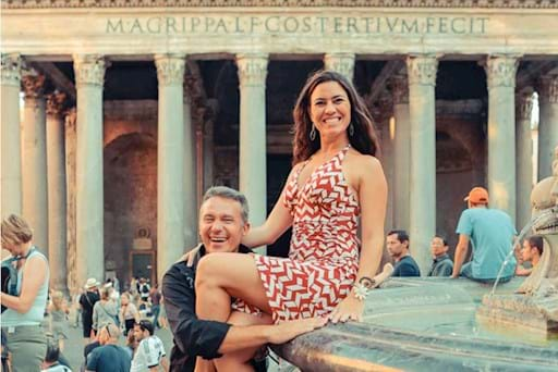 Couple having fun in Rome