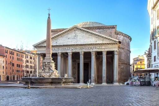 Beautiful view of the Pantheon in Rome