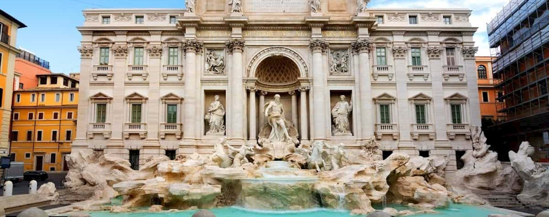 Stunning view of the Trevi Fountain