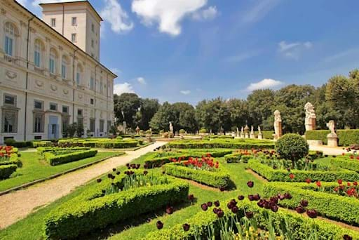 View of part of the Garden at Villa Borghese