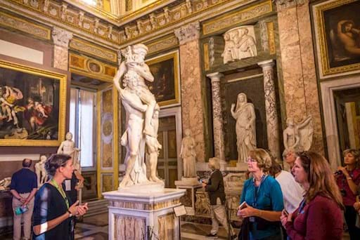 Guided tour inside the Borghese Gallery