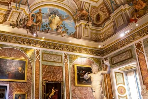 View of the beautiful interior of Villa Borghese