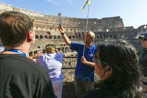 Guided tour inside the Colosseum