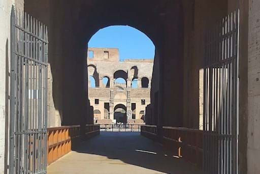 Gladiator's entrance to the Arena floor of the Colosseum