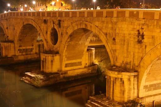 View of Ponte Sisto at Night