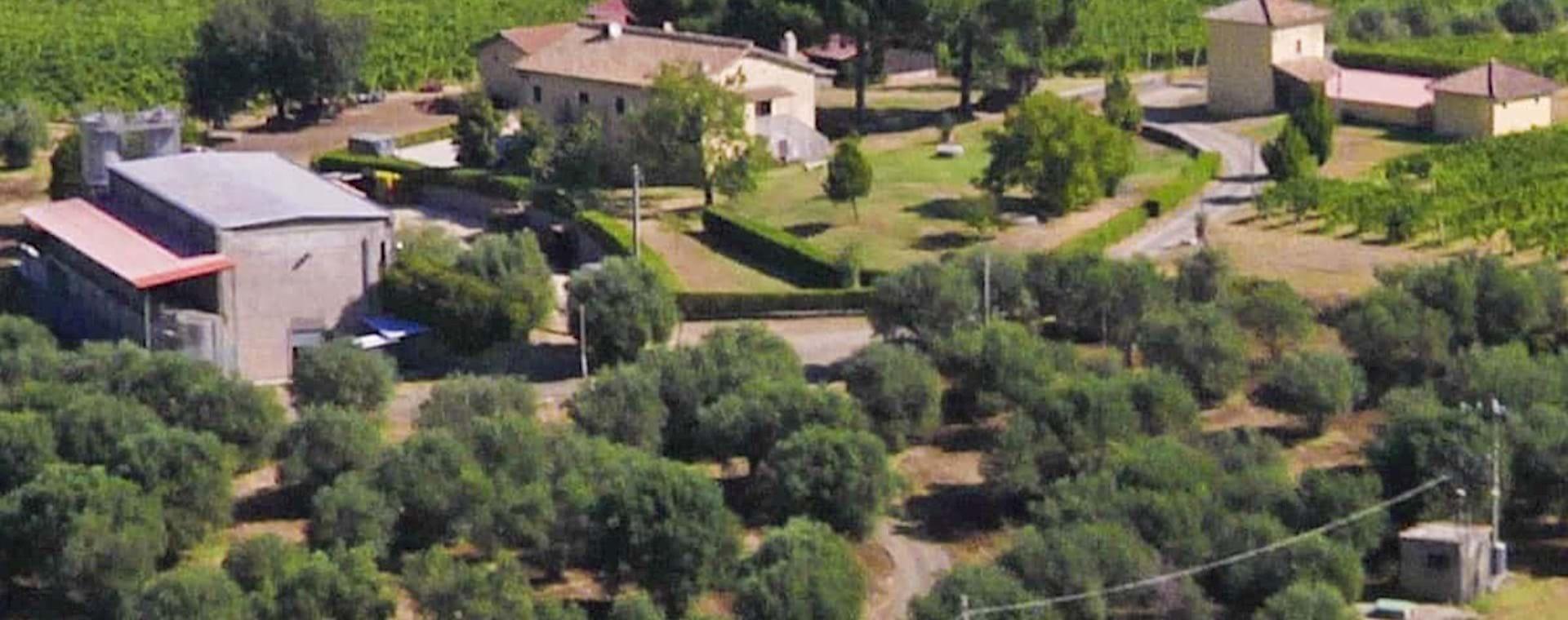 Areal view of Villa Pallavicini in Fiumicino