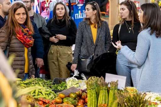 Fresh veggies market in Rome