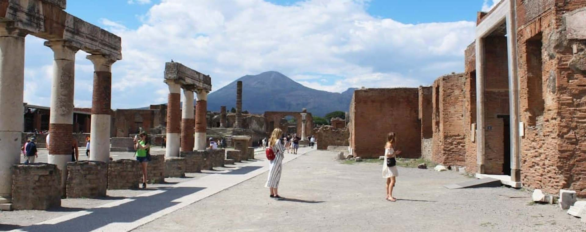 beautiful view of the ruins of Pompeii