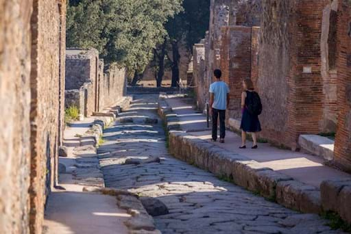 ruins of an old street in Pompeii