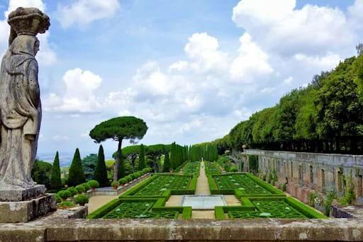 View of the Gardens in Castel Gandolfo
