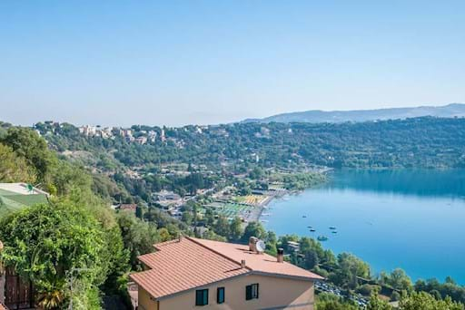 View of the Albano Lake from Castel Gandolfo