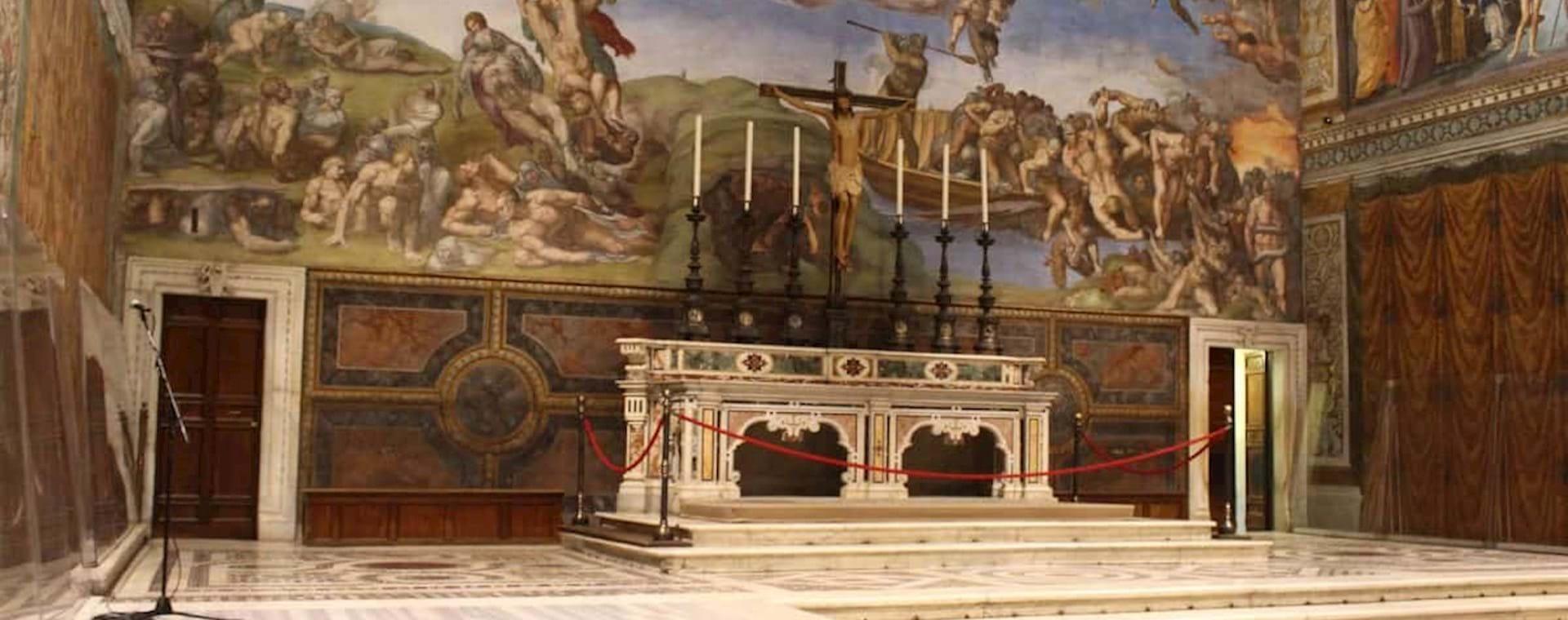 Empty Sistine Chapel