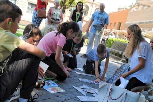 Children enjoying their vatican tour