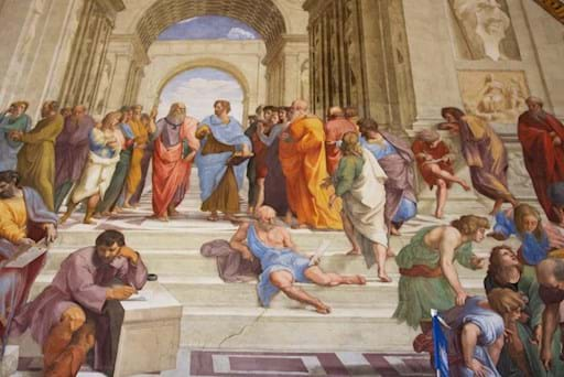 Rapheal Painting inside the Vatican