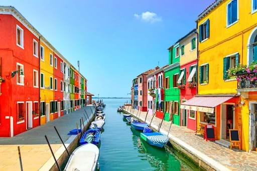 stunning view of Murano's canal
