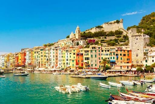 Stunning view of Portovenere from the sea