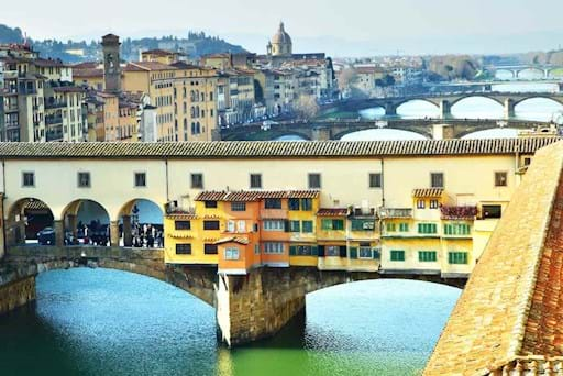 Beautiful view of Ponte Vecchio in Florence