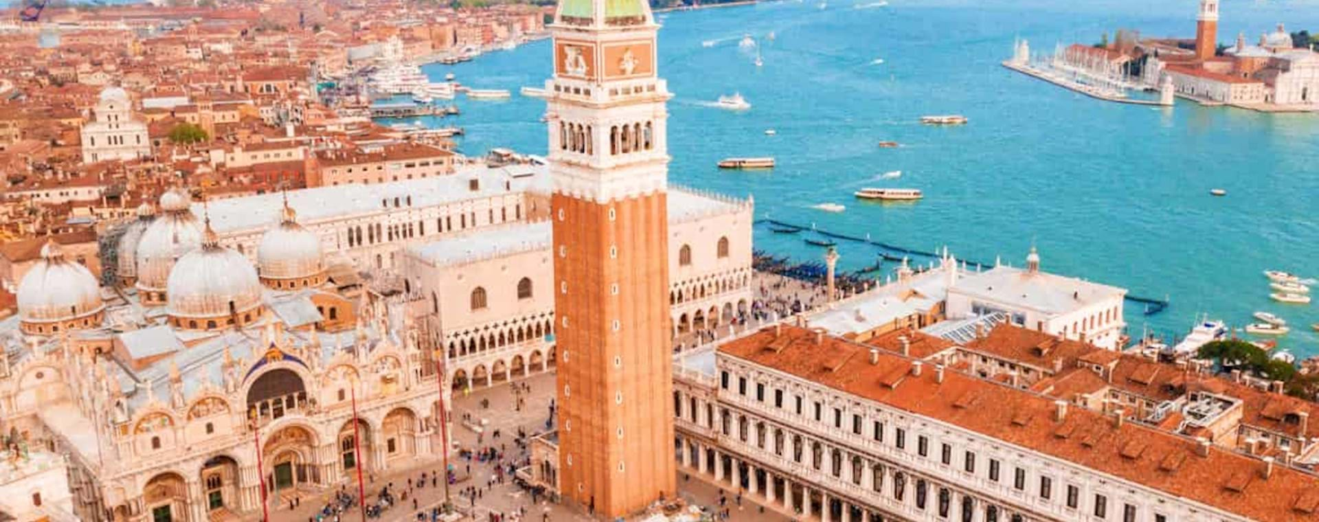 Areal view of St Mark Square