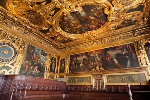 Beautiful interior of the Doge's Palace