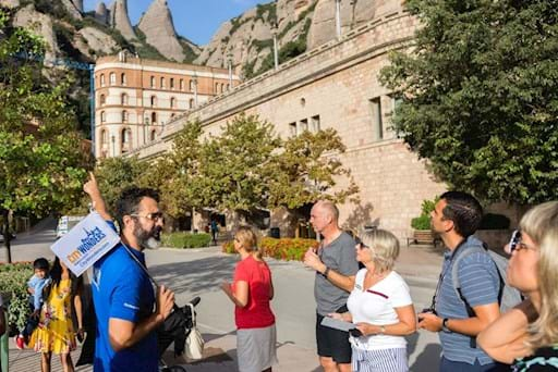 Group of tourists visiting Montserrat on a City Wonders Tour